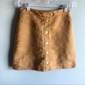H&M Sueded Mini Skirt